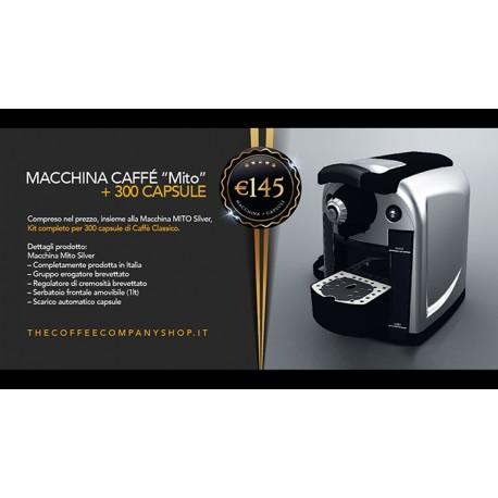 MACCHINA CAFFE A CAPSULE MITO + 300 CAPSULE