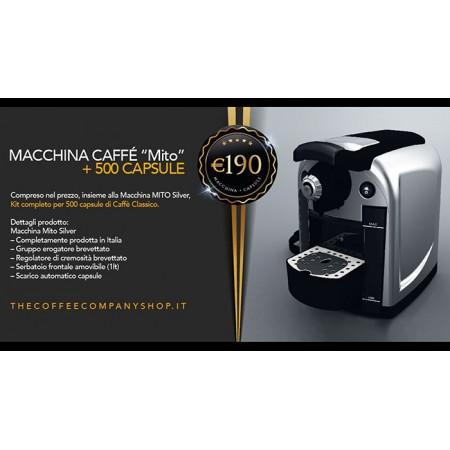 MACCHINA CAFFE A CAPSULE MITO + 500 CAPSULE